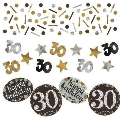 Sparkling Celebration Confetti 30th Birthday