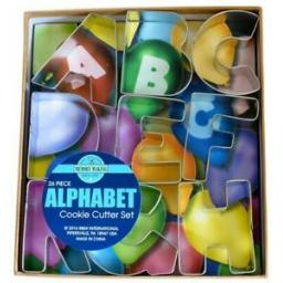 Alphabet Deluxe Cookie Cutter Set - 26 Piece