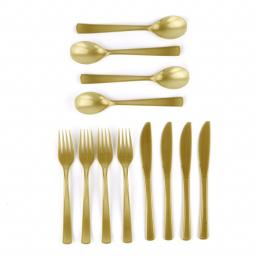 Gold Plastic Cutlery 18 pieces