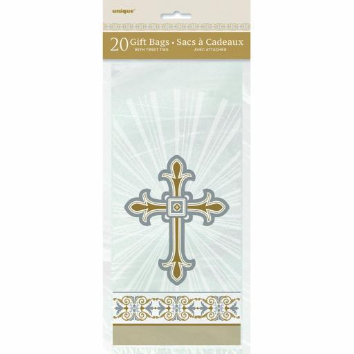 Radiant Cross Religious 20 Cellophane Bags