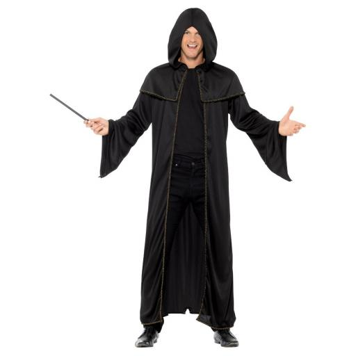 Black Wizard Cloak Adult Costume One Size