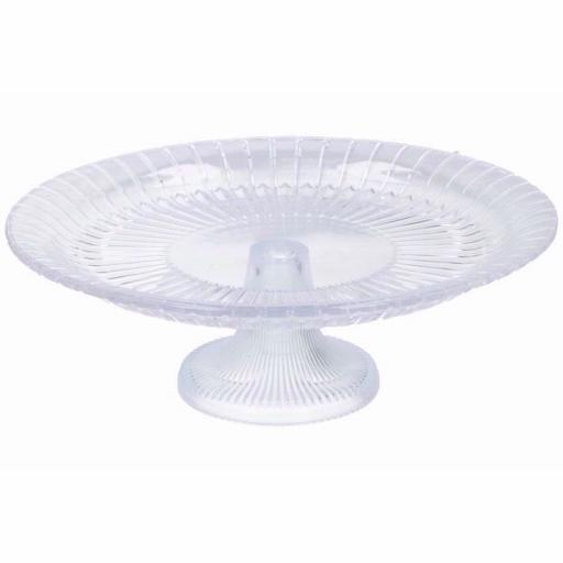 F&D Crystal Footed Plate 34 cm