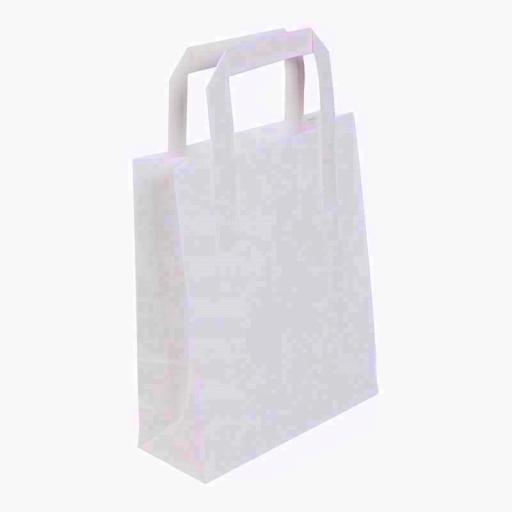10 White Paper Bag & Handle 7X10X8inch