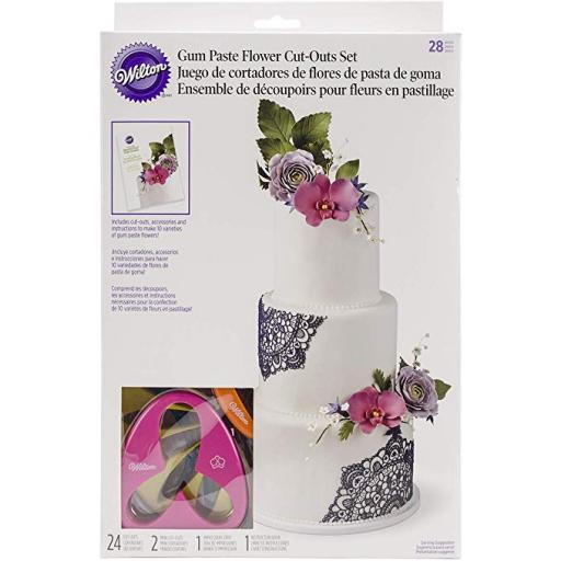 Wilton Gum Paste Flower Cut-Outs Course + Student Kit (4 Saturdays-2h Each)