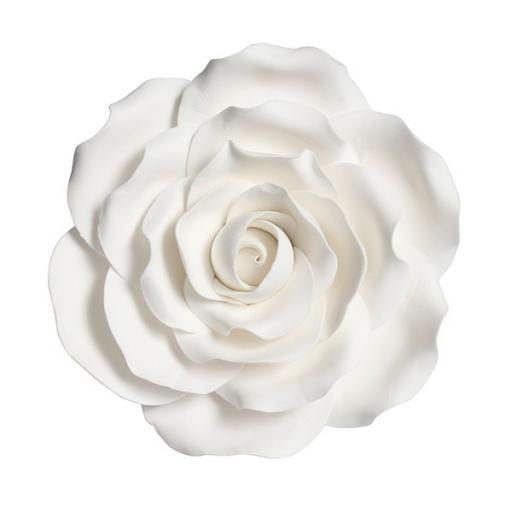 Gumpaste Rose White 101mm