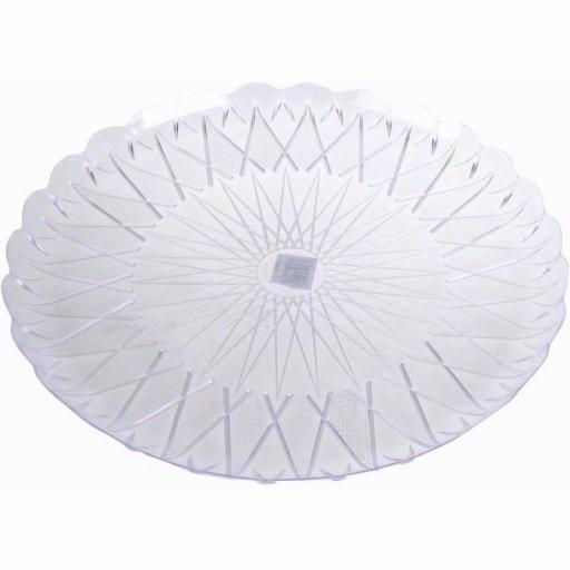 Euro Clear Round Plastic tray 33 cm