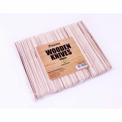 Wooden Knives 100 pcs Biodegradable