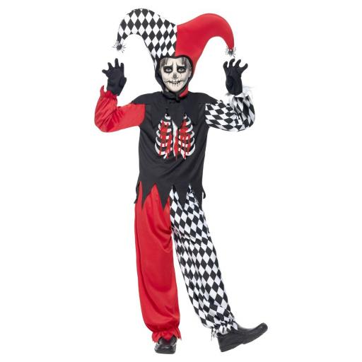 Blood Curdling Jester Costume Size M