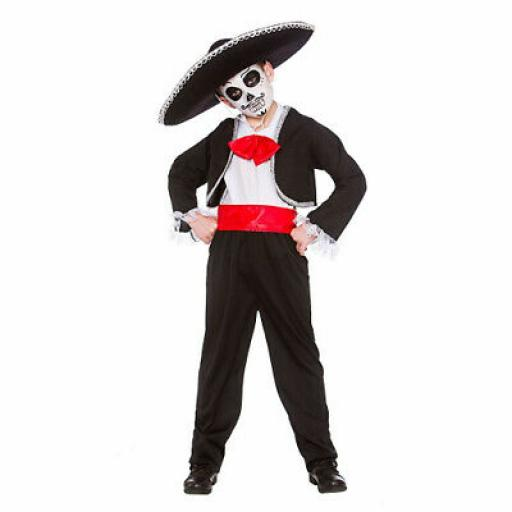 Mexican Day Of The Dead - Kids Costume SizeL