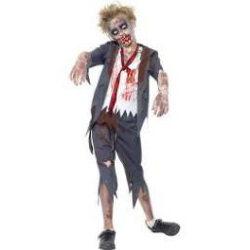 Zombie School Boy Costume Size L