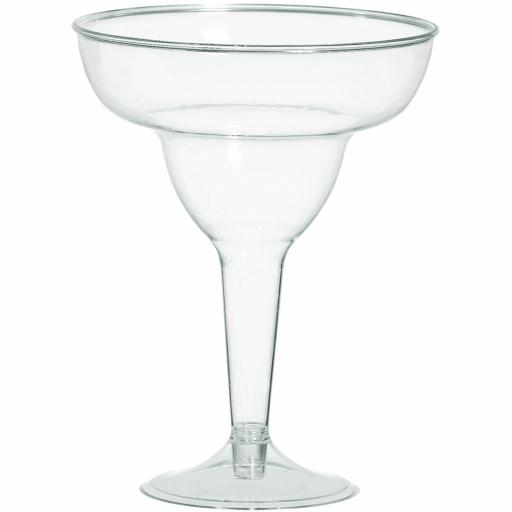 Clear Plastic Margarita Glasses 325ml /20 pcs