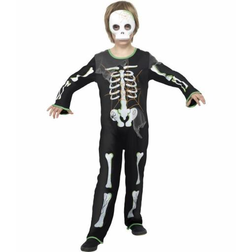 Scary Spider Skeleton Costume Size M( Age 7-9)