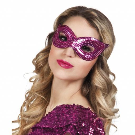 Eyemask Sequins Red