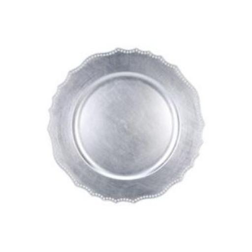 Silver Plastic Plate