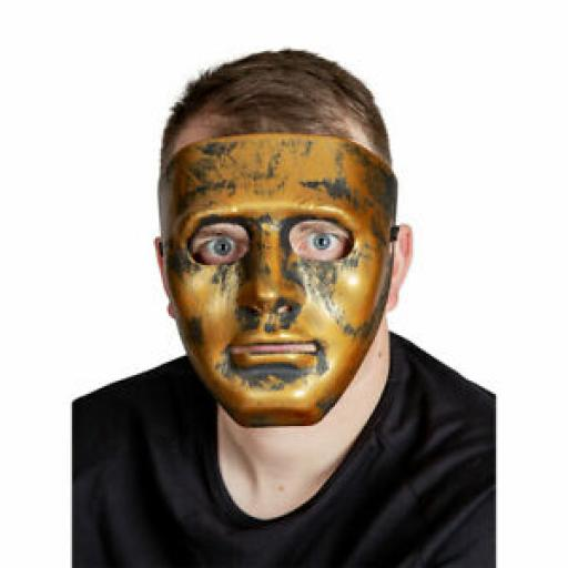 Robot Mask - Antique Gold