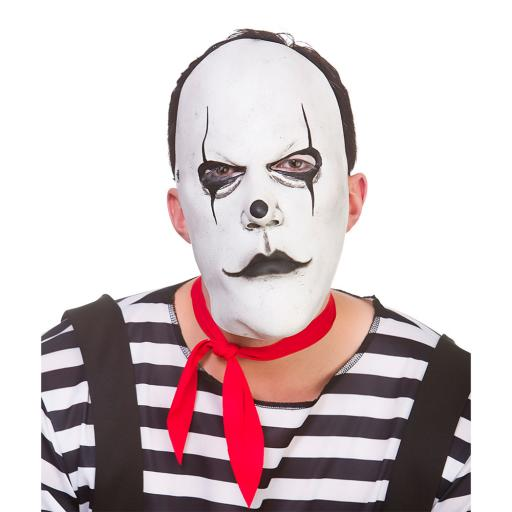 Latex Mask Freaky Mime Artist
