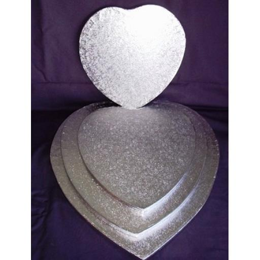 "8"" Heart Cake Drum Silver 12mm"