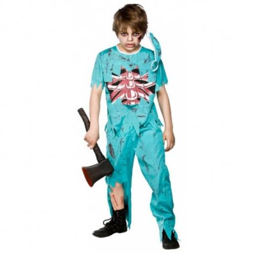 Zombie Doctor Boy Halloween Costume Age 5-7
