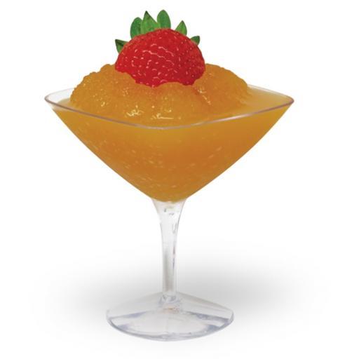 10 Mini Clear Plastic Martini Cup - 45ml