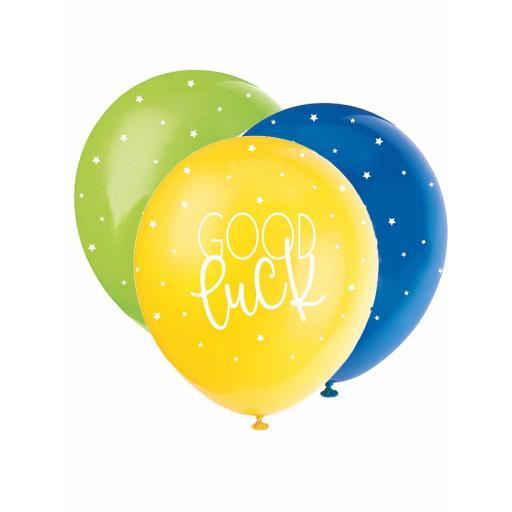 "Good Luck! Assorted Colour Latex Balloon 9"""