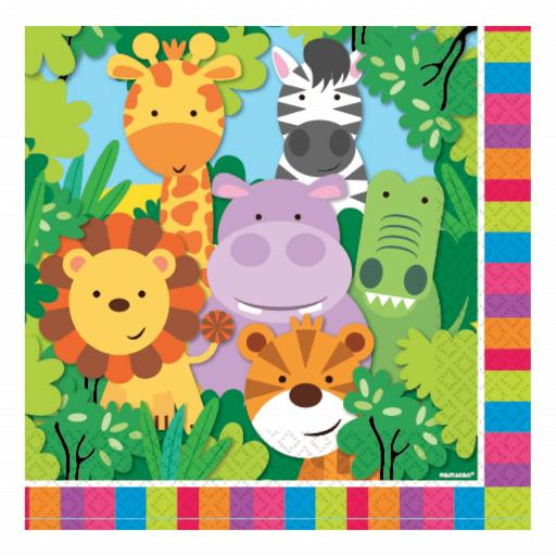 Amscan Jungle Friends Napkins 20pk