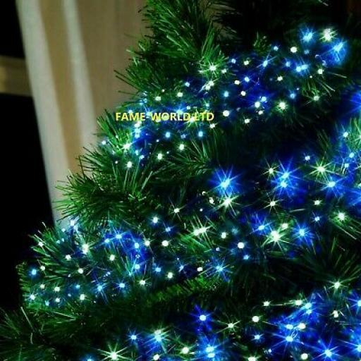 384 Blue And White Cluster LED Lights
