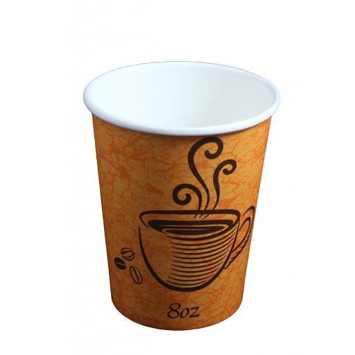 Premium Strength Paper Hot Cups 50pcs/8 Oz