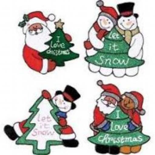 Christmas Window Sticker Assorted Character 15cm