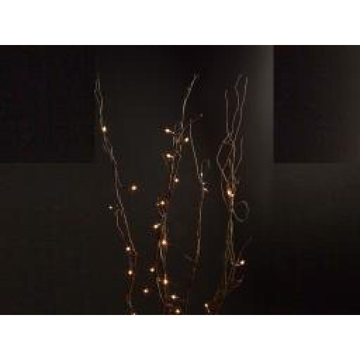 Pre Lit Natural Decorative Twigs With 80 Clear Rice Bulbs 1.2m