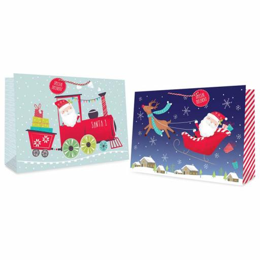 Cute Santa - Super Jumbo Landscape Gift Bag