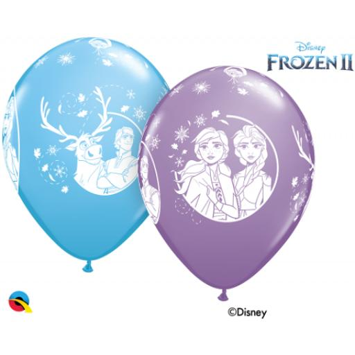 12 Inch 6 Assorted Latex Balloons - Disney Frozen 2