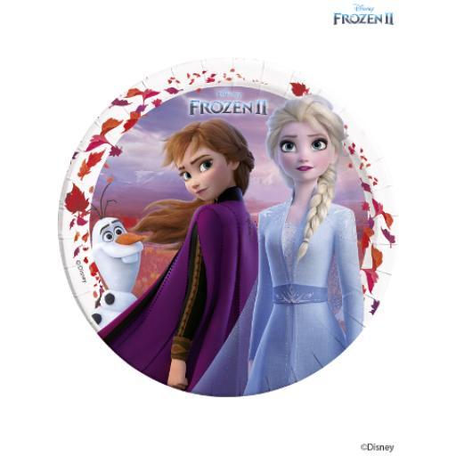 8 Paper Plates 23cm - Frozen 2