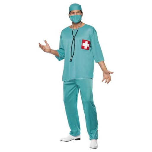 Green Surgeon Costume Size M