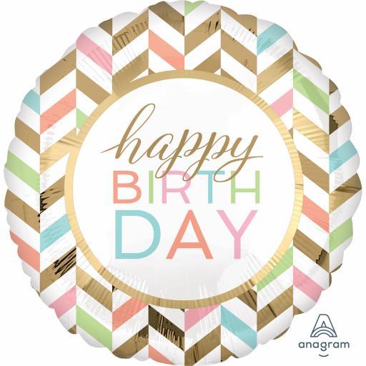 Happy Birthday Confetti Fun Jumbo Foil Balloons