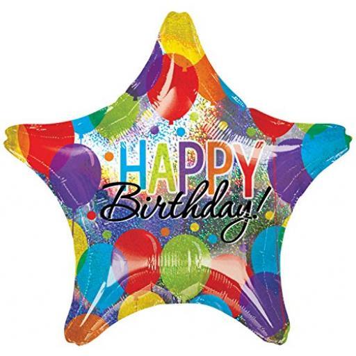 """28"""" Jumbo Balloon Bash Happy Birthday Foil Balloon"""