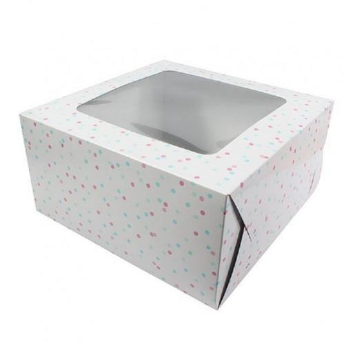 "10"" Windowed Cake Boxes - Plain/Designed"