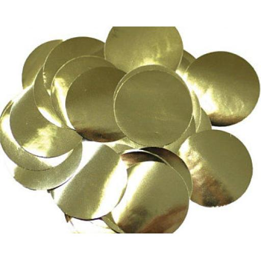 Metallic Gold Dots Foil Confetti (100g)