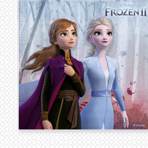 2 Ply Frozen 2 Party Napkins Serviettes 33x33 cm Pack of 20