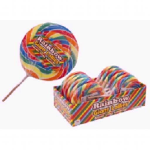 Rainbow Swirl Candy Lolly Pop 125g