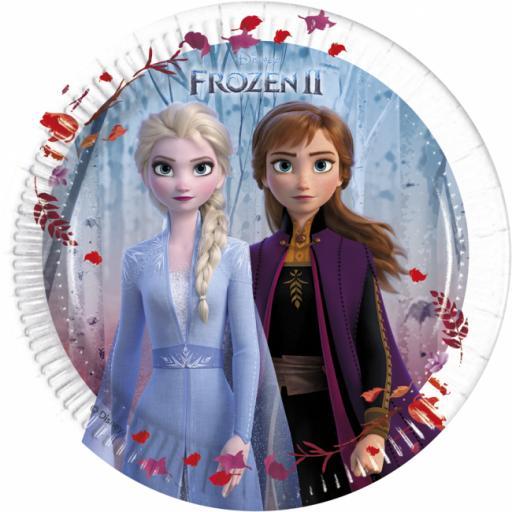 8 Paper Plates 20cm - Frozen 2