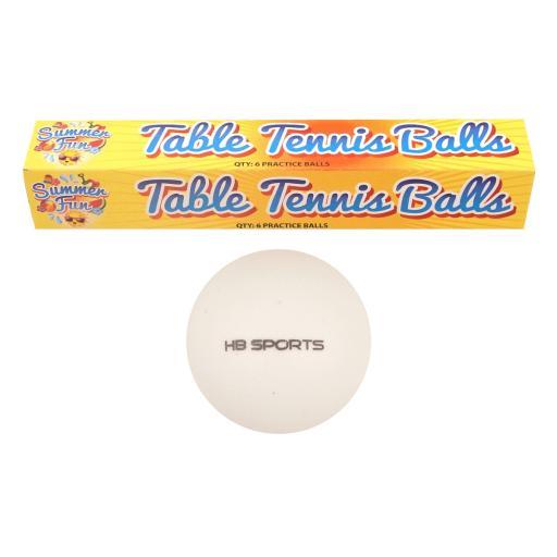 Henbrandt Table Tennis 6cm Balls 6 Pack