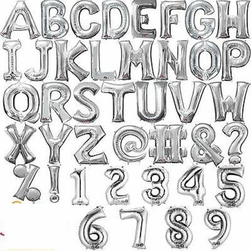 """Letter N Silver Minishape Foil Balloons 16"""""""