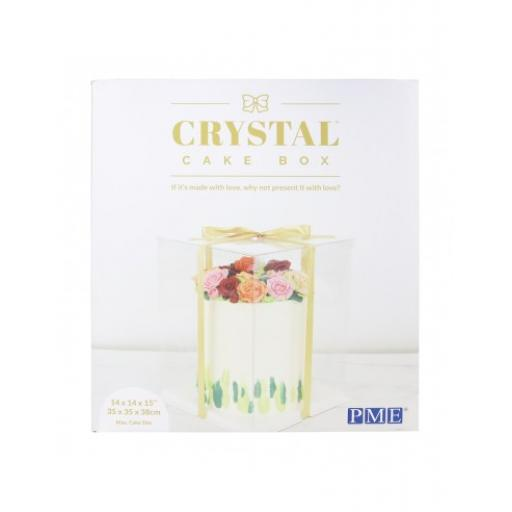 Crystal Cake Box 14 x 14 x 15""