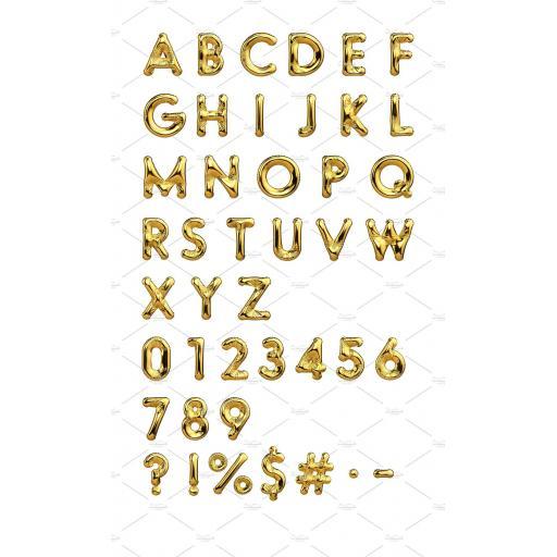 """Letter M Gold Minishape Foil Balloons 16"""""""