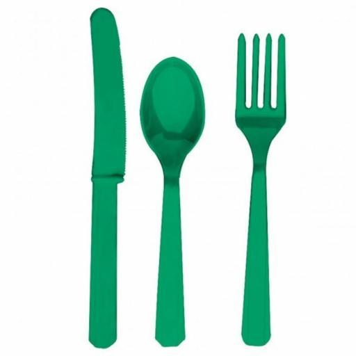 Unique Emerald Green Plastic Cutlery