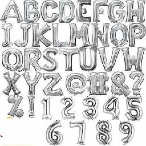 "Letter C Silver Minishape Foil Balloons 16"""