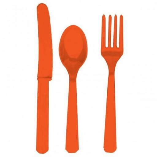 Unique Orange Plastic Cutlery