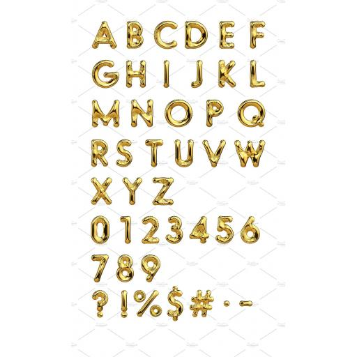 """Letter K Gold Minishape Foil Balloons 16"""""""