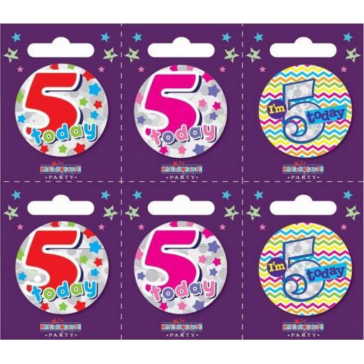 Happy 5th Birthday Badge