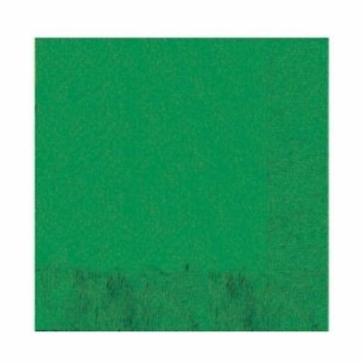 Festive Green Napkins 50pk